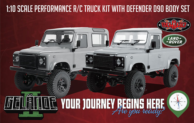 RC4WD Gelande II Kit w/ 2015 Land Rover Defender D90 Hard Body Set