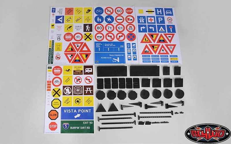 RC4WD Scale Signs Set