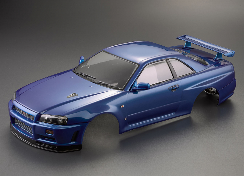Killerbody Nissan Skyline R34 Karosserie Metallic Blau 195mm RTU