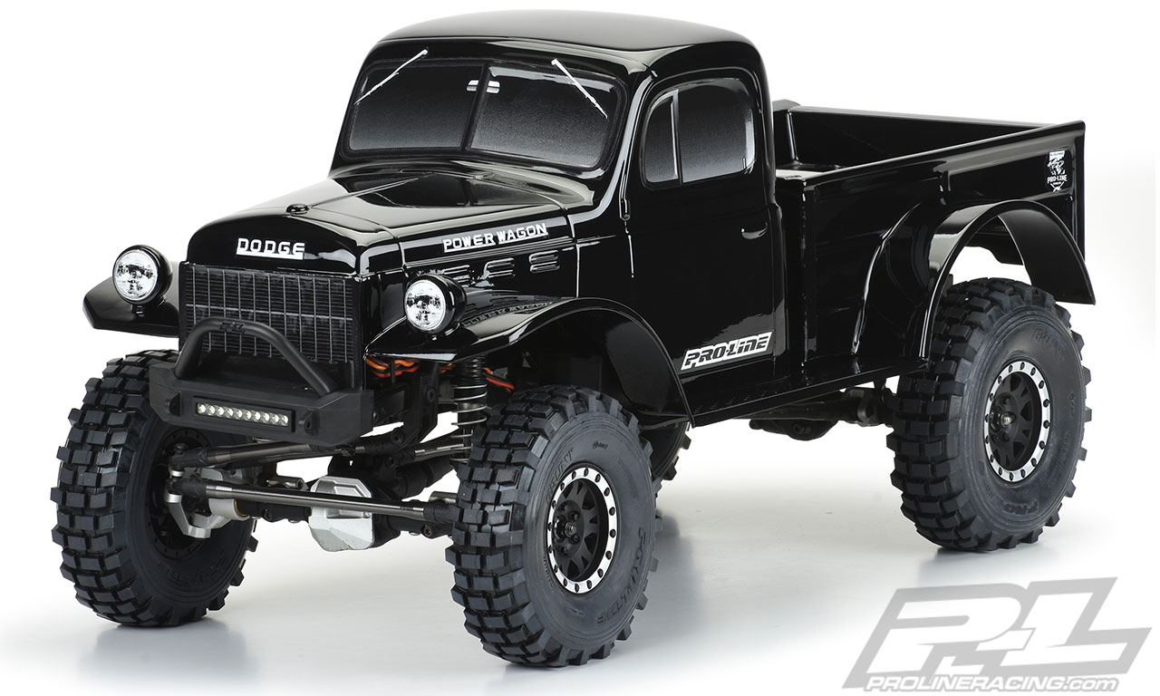 Kayhobbis Onlineshop For Rc Cars Drift Crawler Proline 1946 Dodge Power Wagon Tough Color Black Body For 12 3 313mm Wheelbase Scale Crawlers