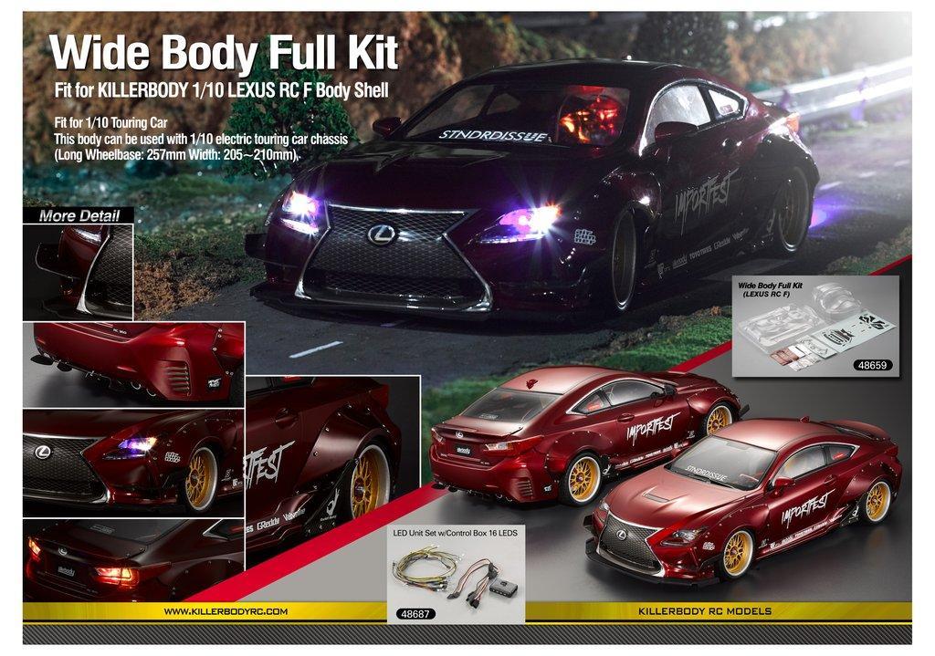 Killerbody Wide Body Full Kit for Lexus RC F