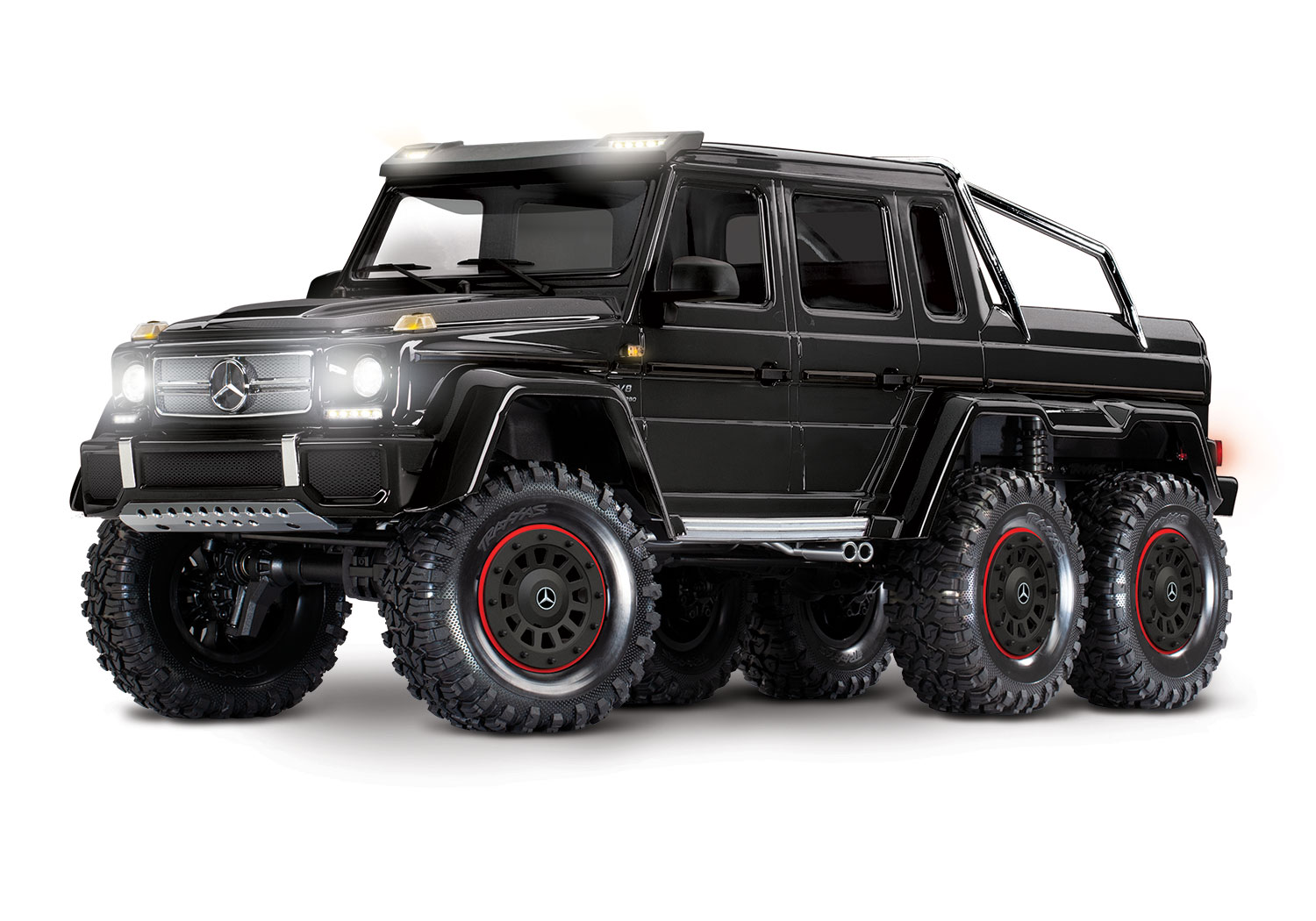 Kayhobbis Onlineshop For Rc Cars Drift Crawler Traxxas Mercedes Benz G63 Amg 6x6 Rtr With Light 6wd Scale Crawler Black