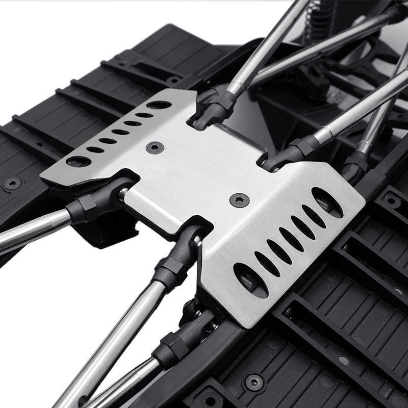 Kayhobbis - Onlineshop for RC Cars - Drift - Crawler - Axial SCX10 III  Stainless Steel Skid Plates