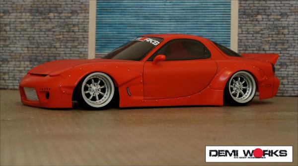 Demi Works Mazda RX7 RB Set B ( fenders + side step) Rocket Bunny